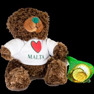 I Luv Malta Teddy Bear + EU Coins