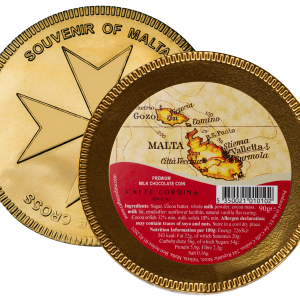 Chocolate Coin with Malta Map
