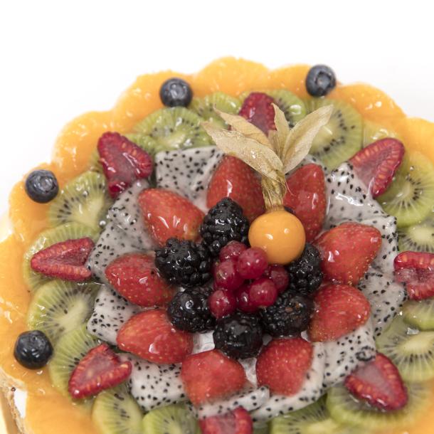 Fruit with Panna Gateaux