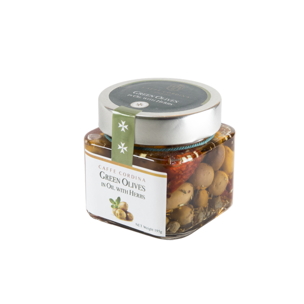 Green Olives in Sunflower oil with herbs