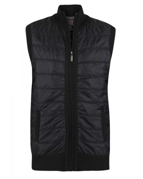 Norton  Quilted Gillet with Knitted back Black