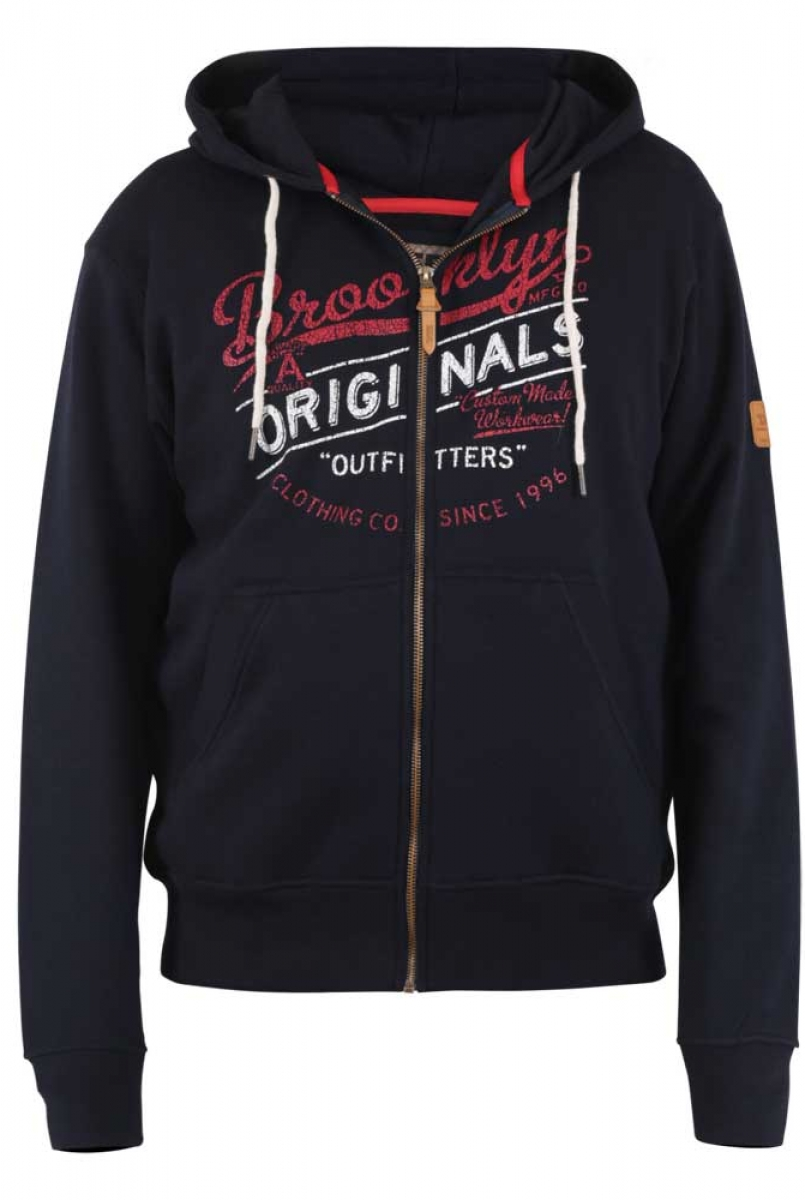Zennor Hoody Embroidered Chest