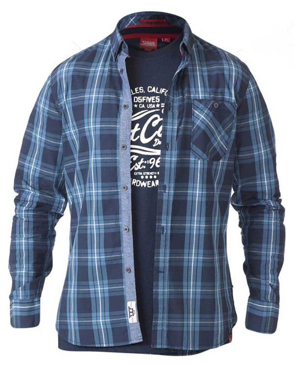 Smith Blue  Checked Shirt