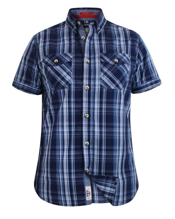 Safford Blue Checked Shirt