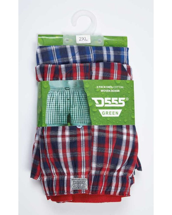 Plaid Twin Pack  Boxer Shorts