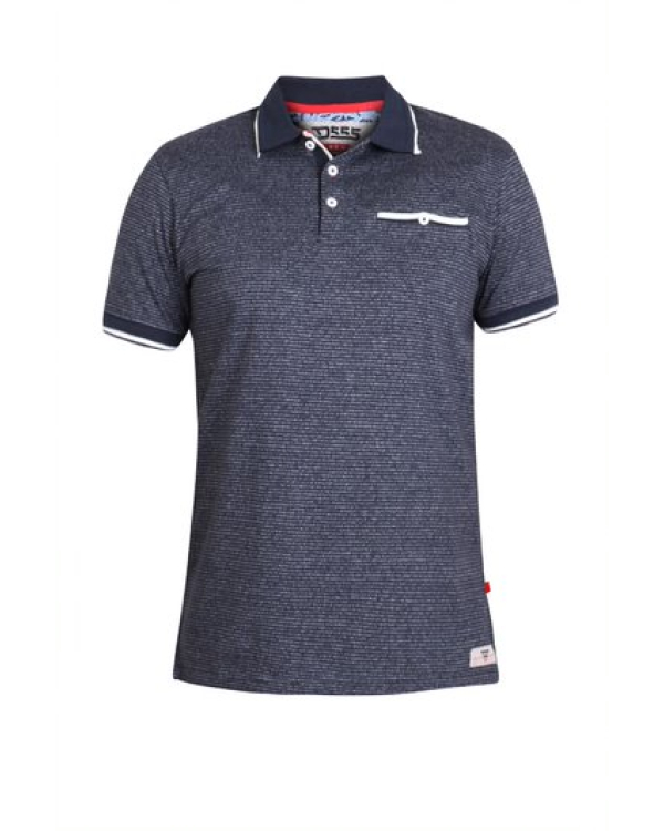 Jakeman Striped PoloShirt with Jetted Chest Pocket